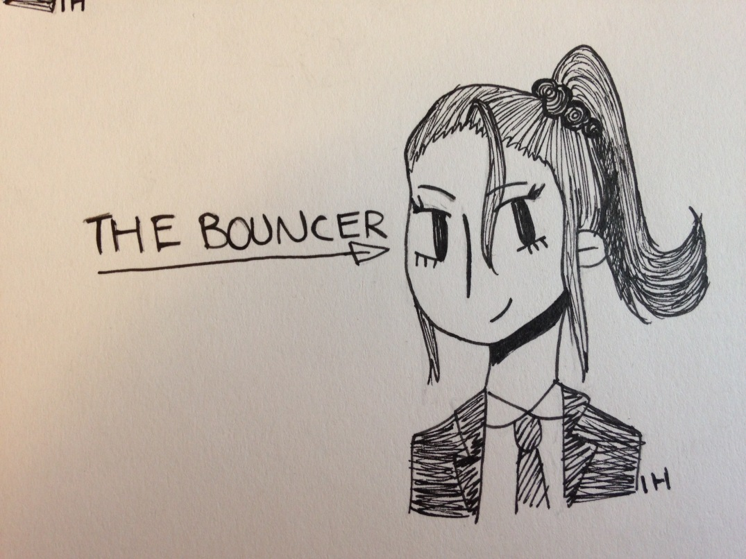 bouncer hairstyle girl sketch indigo haynes